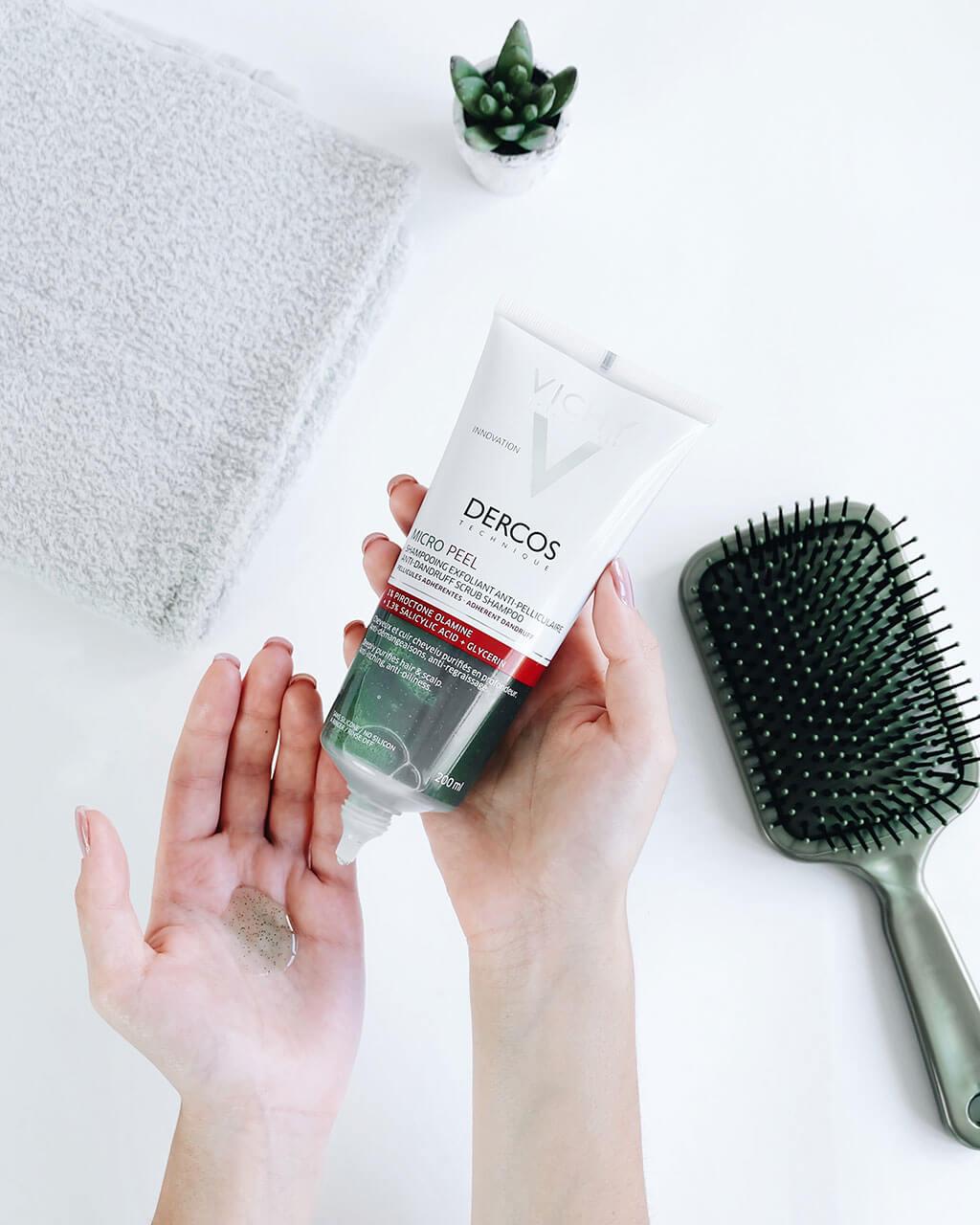 Shampoo Esfoliante Anticaspa Com Acido Salicilico Vichy Dercos MicroPeel
