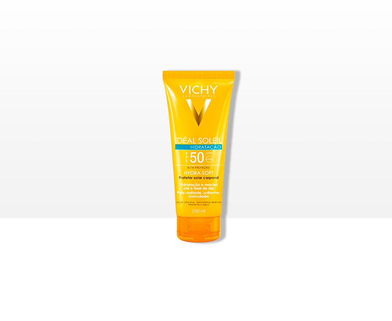 Protetor Solar Corporal Vichy Idéal Soleil Hydrasoft FPS50 - 200ml