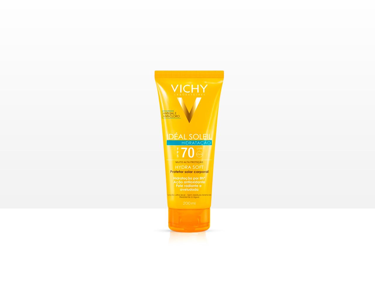 Protetor Solar Corporal Vichy Ideal Soleil Hydrasoft FPS70 - 200ml